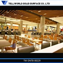 Club tables and chairs modern design restaurant artifical marble dinning table