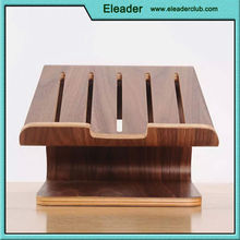 Original Samdi Elegent wooden dock laptop vertical radiating holder stand for macbook air/pro