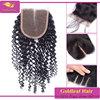 3 way part virgin brazilian hair top closure,brazilian deep curly closure