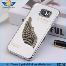 Alibaba express mobile phone accessories metal diamond eagle wing mirror chrome case for Samsung Galaxy S6 case