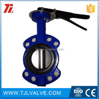 wafer type di/ci/ss jis 10k cast iron butterfly valve drinking water fm/ul