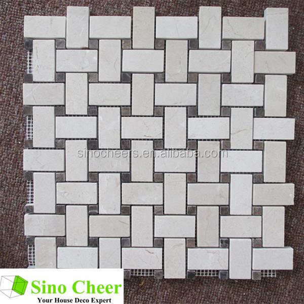 Barato 12x12 blanco carrara mármol azulejos