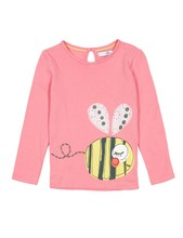 2015 best quality wholesales Bee applique baby girls pure cotton long sleeve t shirt