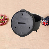 non enameled cast iron camping cookware