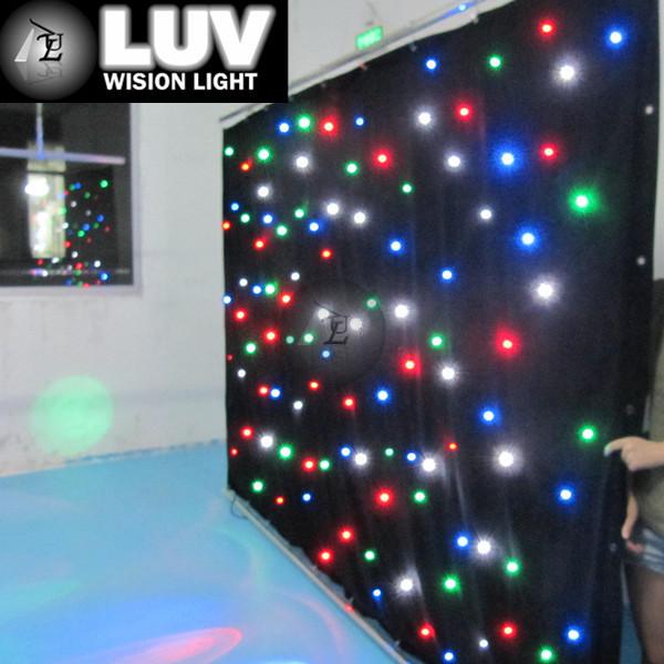 Dmx Control Led Twinkling Stars Curtain Lights Black