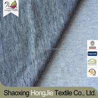 polyester+spandex denim knitted fabric stocks