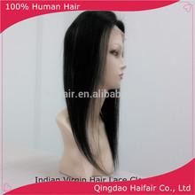 recta ningún tinte de pelo indio virgen el cierre completo de densidad 10 pulgadas a 18 pulgadas sobre la venta