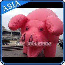Excellent&Good Product Gaint Inflatable Porker Moving Animals Pink Big Pig