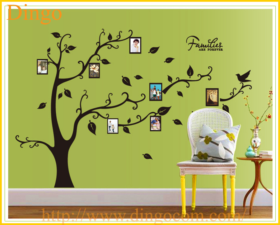 Romantic Trees And Photo Frame Removable Pvc Decorative Wall ...