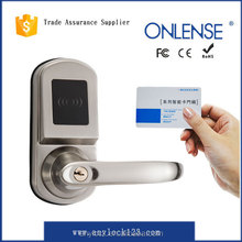 Smart card electronic handle door lock with safe mortise