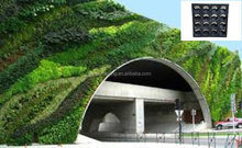 SOL 2015 decorative self-watering green wall concrete fence wall plastic green wall planter board