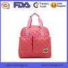 New Design pink 300D Polyester tote diaper bag with long shoulder
