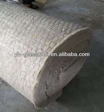 Rock wool blanket covered with galvanized wire netting