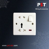 BS Button Light Switch 5 Pin Socket