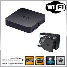 Promotional Android Bluetooth TV Box-mxq xbmc android 4.4 quad core Google Android 4.4 TV Box skype