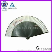 Silk fabric dancing fan , gifts & crafts hand paper fan