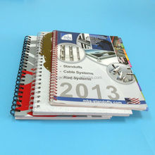 high quality catalog in coil binding book printing