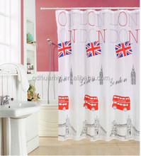 High quality shower curtains polyester fabric bath shower windows curtain