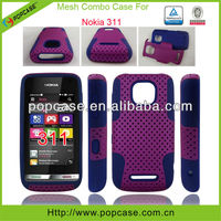 mobile phone cover for nokia 311 combo mesh case