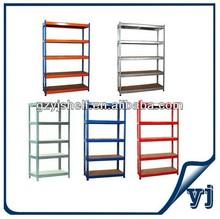 Slotted angle shelving system steel storage adjustable angle iron shelf/iron rack