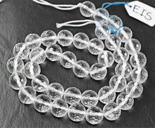 16 Inches - 10mm - Natural White Quartz Faceted Round Beads Strand - JE 6802