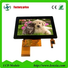 Lower price capacitive touch screen 4.3inch ctp lcd with 480x272