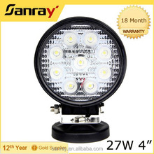 12v 27w led working light for automotive off road use