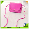 small purse long strap rose red color fashion PU shoulder bag for women