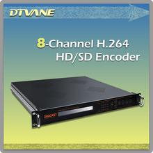 Radio TV Broadcasting Equipment H 264 HD Encoder for 8 Channel HDCP