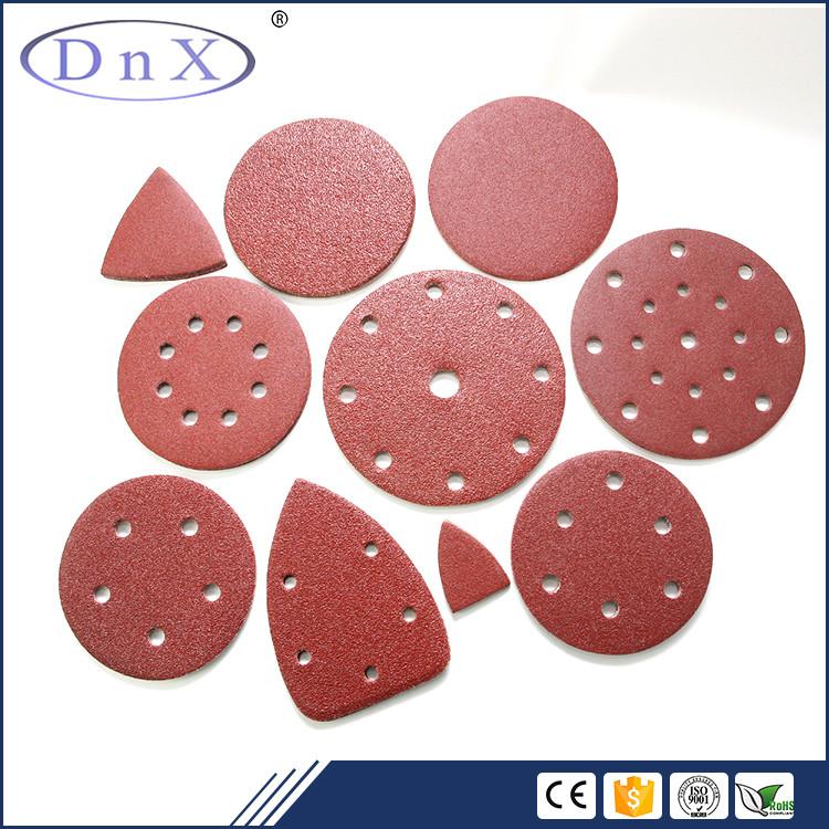 5 pollice grit 120 prezzo basso ossido di Alluminio rosso rotondo carta vetrata