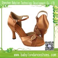 2015 China Manufacturers wholesale comfortable Christmas gift line dance shoes , top quality satin vamp fashion latin dance shoe
