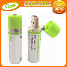 Wholesale 1.2V AA usb small rechargeable battery
