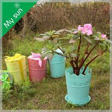 Big lace plastic pot planting,Pot for green office,Simple Garden