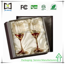 High quality custom wine glass gift boxes wholesale