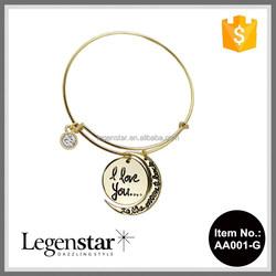 2015 Legenstar Alibaba express alex and ani fashion charm bracelet&bangles AA001