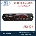 JK6836 TF usb de audio mp3 fm reproductor de circuito