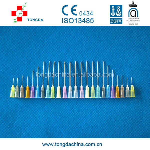 Disposable Hypodermic Injection Needle, from 16G to 30G