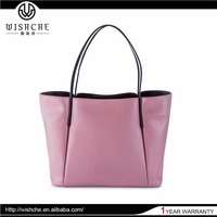 Wishche Hot Sale Tote Woman Bag Genuine Leather Shoulder Bag Lady Shopping Bags Quality Guaranteed Fashion Designs Handbags W026