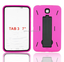 2015 New products wholesales price popular tough robot waterproof PC+Silicone rubber case for Samsung Galaxy Tab 3 7.0 P3200