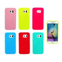 Silicone Cellphone Cover Case Skin For Samsung Galaxy S6 Edge