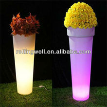 Rechargeable Modern Plastic Light up flower pot solar led lamp