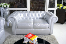 White Antique French Sofa , Chesterfield F204