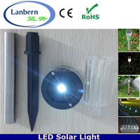 2016 promotion Cheap Small Stainless steel IP44 waterproof Solar Powered Garden Spike LED Light