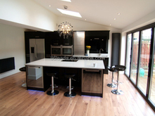 30mm Quartz counter tops, polished on eased square edge