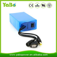 Gold supplier rechargeable 12v lithium ion battery, li ion battery 12v and 5v for LED light and CCTV camera, Router etc