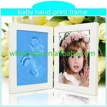 Customed Baby Foot Hand Prints Frame baby ink footprint picture frame