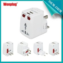 2015 Wonplug Patent Seller Different Universal Best Travel Adapter With Usb