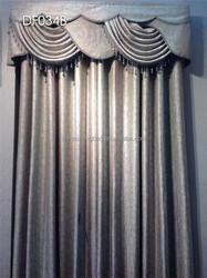 Flexible rod models of water-wave valances linen curtain