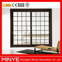 China supplier iron grills interior door with double glazed
