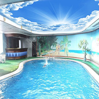 Design For Home,Hotel Decoration wall sky mural 3d wallpaper for spa